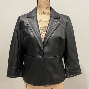 Kate Hill Black Leather Jacket medium